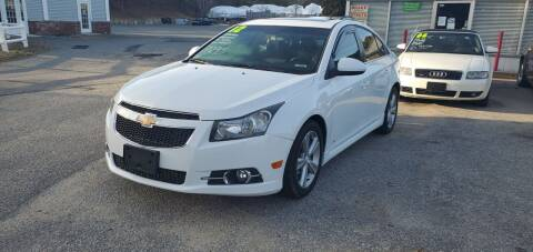 2012 Chevrolet Cruze for sale at Falmouth Auto Center in East Falmouth MA