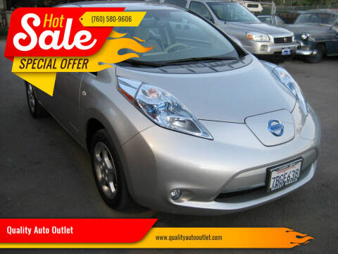 2012 Nissan LEAF for sale at Quality Auto Outlet in Vista CA