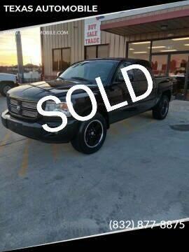 2008 Dodge Dakota for sale at TEXAS AUTOMOBILE in Houston TX