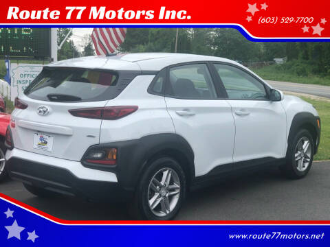 2020 Hyundai Kona for sale at Route 77 Motors Inc. in Weare NH