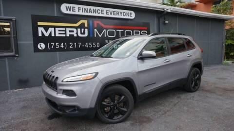 2015 Jeep Cherokee for sale at Meru Motors in Hollywood FL
