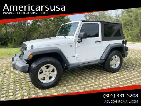 2011 Jeep Wrangler for sale at Americarsusa in Hollywood FL