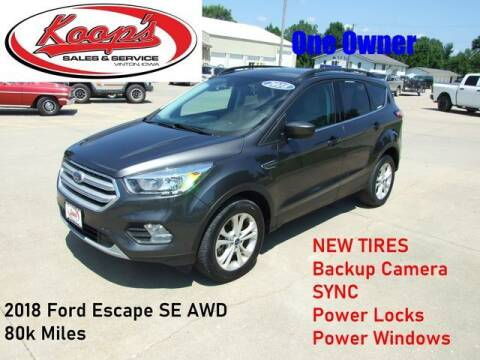 2018 Ford Escape for sale at Koop's Sales and Service in Vinton IA