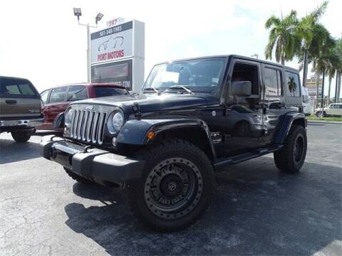2018 Jeep Wrangler JK Unlimited for sale at Automotive Credit Union Services in West Palm Beach FL