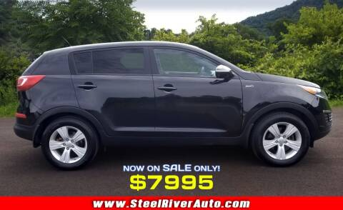 2013 Kia Sportage for sale at Steel River Auto in Bridgeport OH