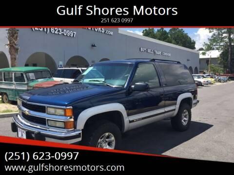 1994 Chevrolet Blazer for sale at Gulf Shores Motors in Gulf Shores AL
