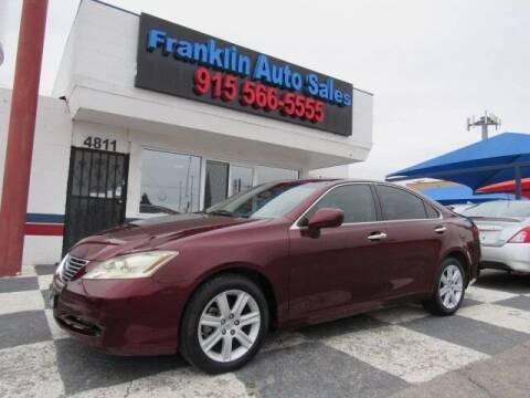 2007 Lexus ES 350 for sale at Franklin Auto Sales in El Paso TX