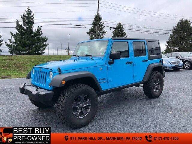 2017 Jeep Wrangler Unlimited for sale at Best Buy Pre-Owned in Manheim PA
