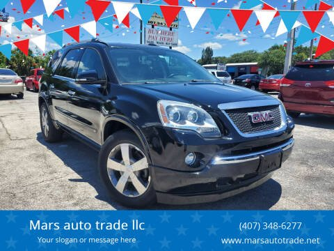 2010 GMC Acadia for sale at Mars auto trade llc in Kissimmee FL
