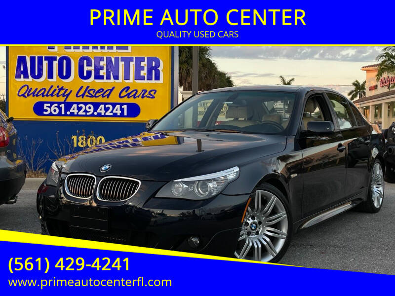 2008 BMW 5 Series for sale at PRIME AUTO CENTER in Palm Springs FL