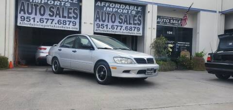 2002 Mitsubishi Lancer for sale at Affordable Imports Auto Sales in Murrieta CA