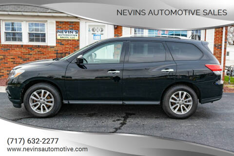 2014 Nissan Pathfinder for sale at Nevins Automotive Sales in Hanover PA