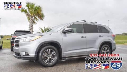 2016 Toyota Highlander for sale at Courtesy Value Pre-Owned I-49 in Lafayette LA