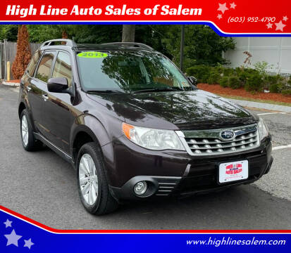 2013 Subaru Forester for sale at High Line Auto Sales of Salem in Salem NH