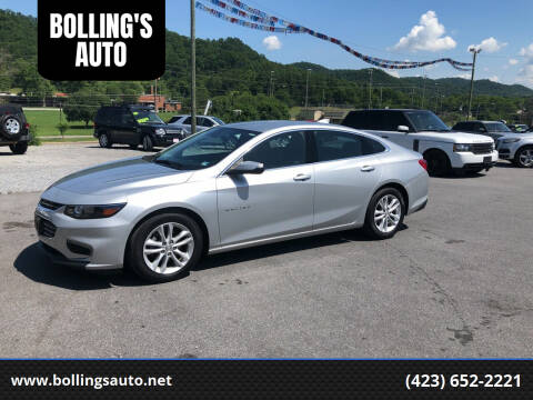 2016 Chevrolet Malibu for sale at BOLLING'S AUTO in Bristol TN