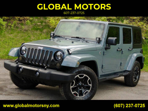 2015 Jeep Wrangler Unlimited for sale at GLOBAL MOTORS in Binghamton NY