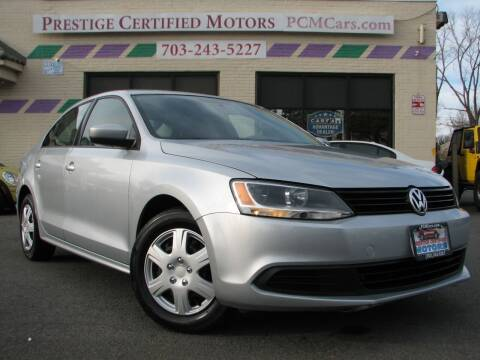 2013 Volkswagen Jetta for sale at Prestige Certified Motors in Falls Church VA