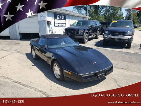 1989 Chevrolet Corvette for sale at D & D Auto Sales Of Onsted in Onsted MI