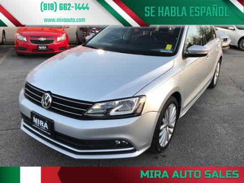 2016 Volkswagen Jetta for sale at Mira Auto Sales in Raleigh NC
