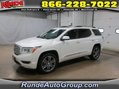 2019 GMC Acadia for sale at Runde Chevrolet in East Dubuque IL