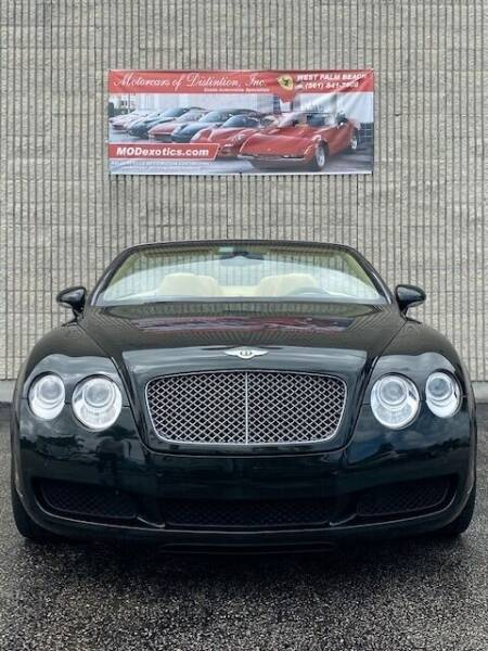 2007 Bentley Continental for sale at MOTORCARS OF DISTINCTION INC in West Palm Beach FL