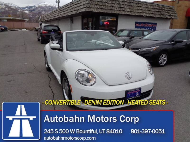 2016 Volkswagen Beetle Convertible for sale at Autobahn Motors Corp in Bountiful UT