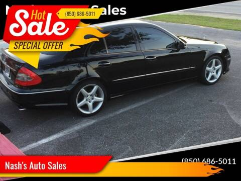 2009 Mercedes-Benz E-Class for sale at Nash's Auto Sales Used Car Dealer in Milton FL