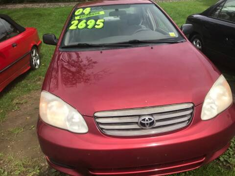 2004 Toyota Corolla for sale at Richard C Peck Auto Sales in Wellsville NY
