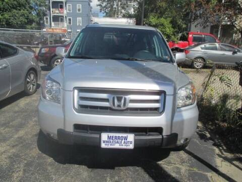 2006 Honda Pilot for sale at MERROW WHOLESALE AUTO in Manchester NH