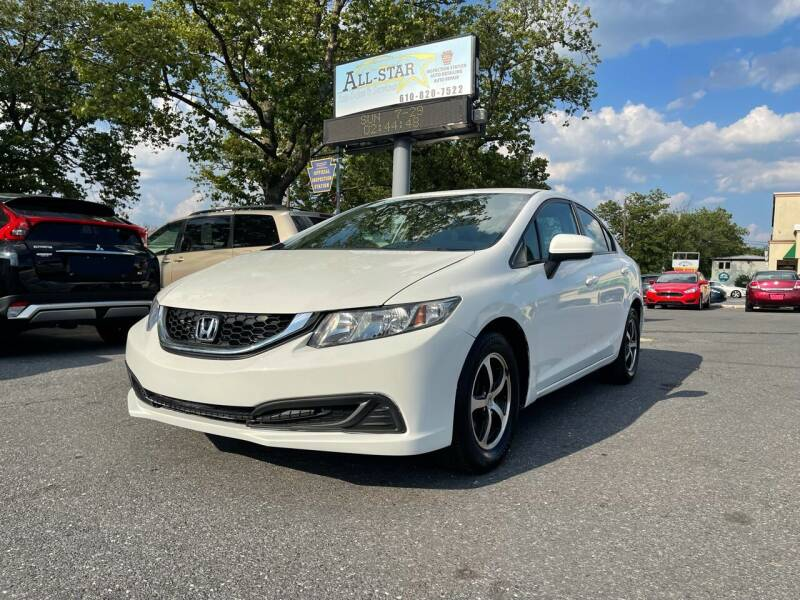 2015 Honda Civic for sale at All Star Auto Sales and Service LLC in Allentown PA
