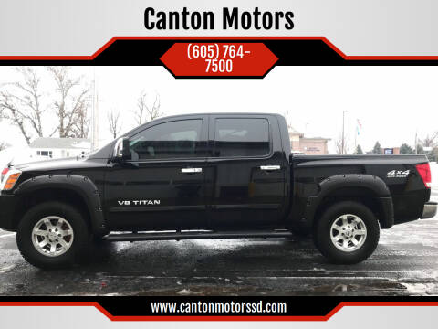 2007 Nissan Titan for sale at Canton Motors in Canton SD