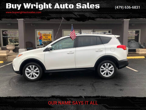 2014 Toyota RAV4 for sale at Buy Wright Auto Sales in Rogers AR