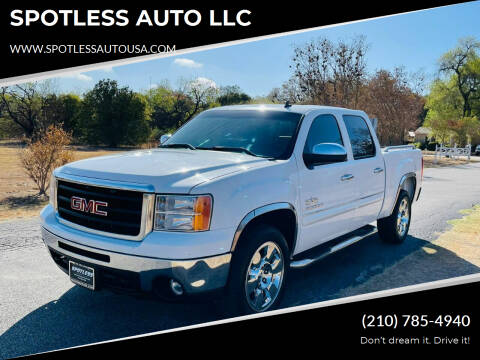 2009 GMC Sierra 1500 for sale at SPOTLESS AUTO LLC in San Antonio TX