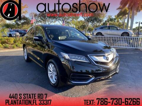 2018 Acura RDX for sale at AUTOSHOW SALES & SERVICE in Plantation FL