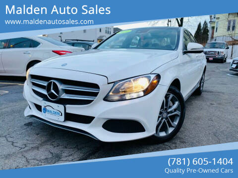 2016 Mercedes-Benz C-Class for sale at Malden Auto Sales in Malden MA