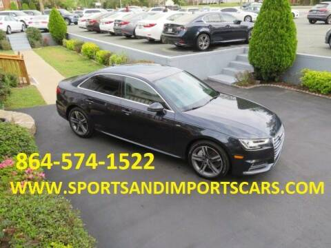 2017 Audi A4 for sale at Sports & Imports INC in Spartanburg SC