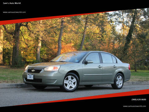 2006 Chevrolet Malibu for sale at Sam's Auto World in Roselle NJ
