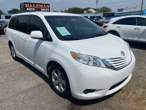 2015 Toyota Sienna for sale at HALEMAN AUTO SALES in San Antonio TX