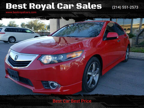 2012 Acura TSX for sale at Best Royal Car Sales in Dallas TX
