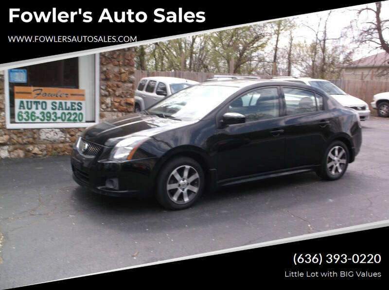 2011 Nissan Sentra for sale at Fowler's Auto Sales in Pacific MO