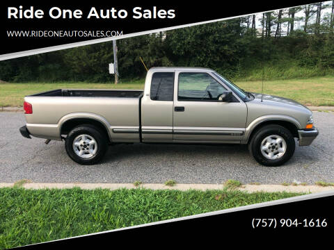 2002 Chevrolet S-10 for sale at Ride One Auto Sales in Norfolk VA
