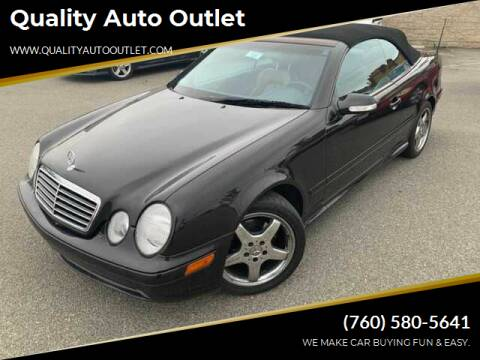 2002 Mercedes-Benz CLK for sale at Quality Auto Outlet in Vista CA