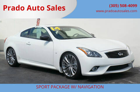 2014 Infiniti Q60 Coupe for sale at Prado Auto Sales in Miami FL