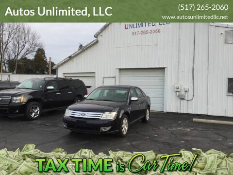 2008 Ford Taurus for sale at Autos Unlimited, LLC in Adrian MI