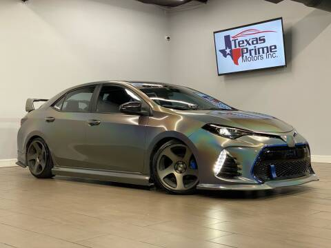 2017 Toyota Corolla for sale at Texas Prime Motors in Houston TX