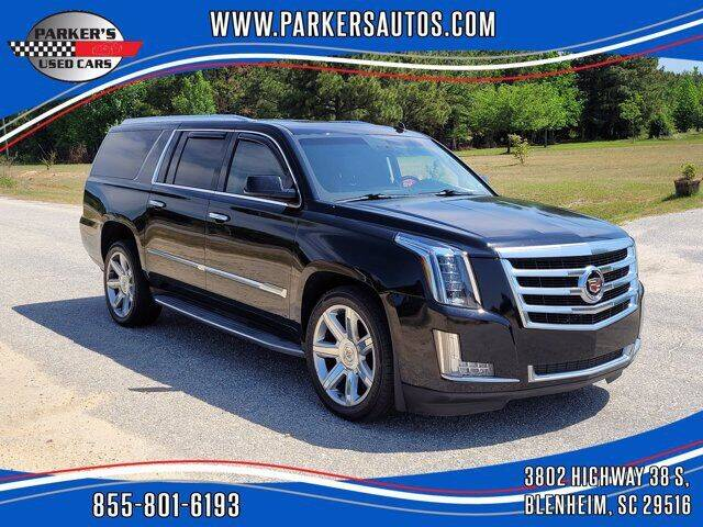 2015 Cadillac Escalade ESV for sale at Parker's Used Cars in Blenheim SC