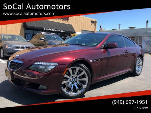 2008 BMW 6 Series for sale at SoCal Automotors in Costa Mesa CA