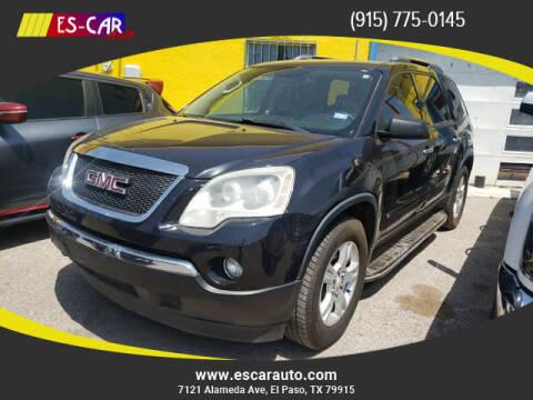 2009 GMC Acadia for sale at Escar Auto in El Paso TX