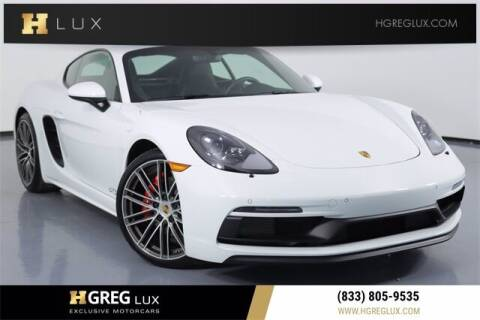 2018 Porsche 718 Cayman for sale at HGREG LUX EXCLUSIVE MOTORCARS in Pompano Beach FL