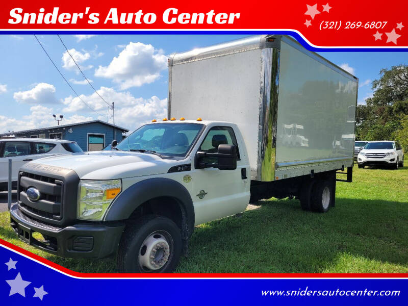 2013 Ford F-550 Super Duty for sale at Snider's Auto Center in Titusville FL